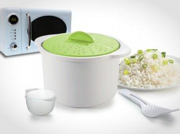 סיר הפלא למיקרוגל להכנת אורז, פסטה, פתיתים ושאר קטניות