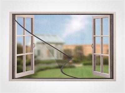 רשת נגד יתושים לחלון בשילוב מגנטים להרכבה עצמית