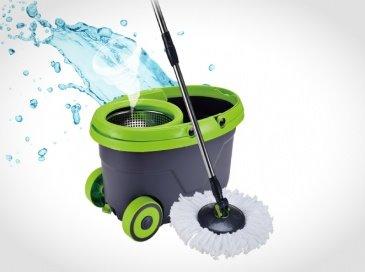 דלי הפלא המקורי לשטיפת רצפה  לשטיפה ללא מאמץ ובלי ללכלך את הידיים